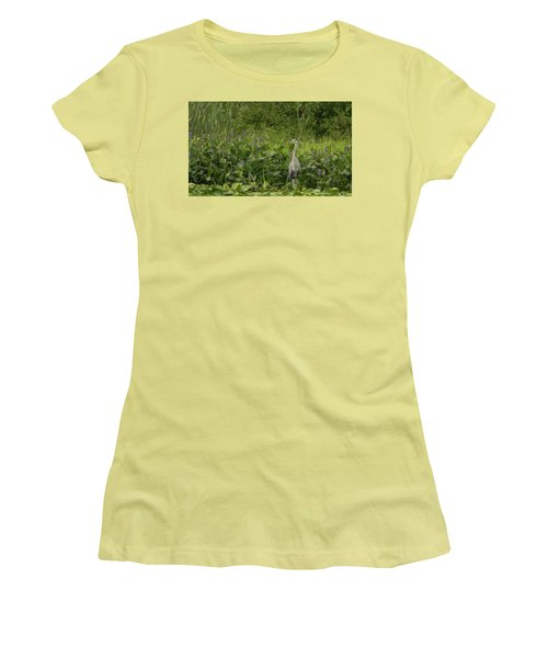 Bird Waiting Women's T-Shirt (Athletic Fit)