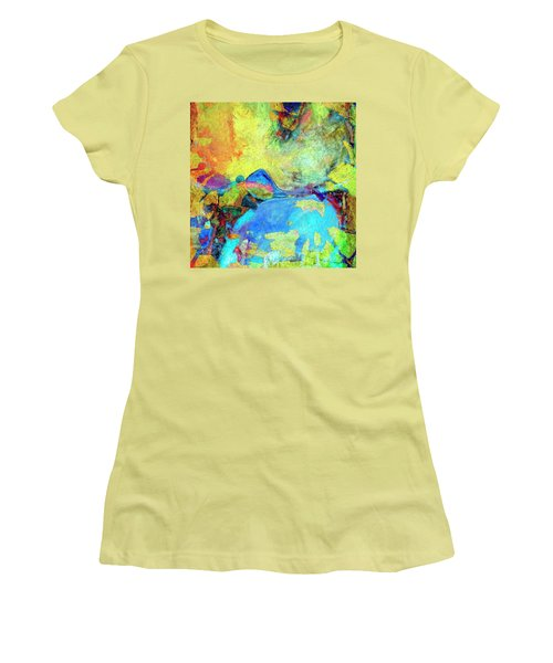Women's T-Shirt (Junior Cut) featuring the painting Birdland by Dominic Piperata