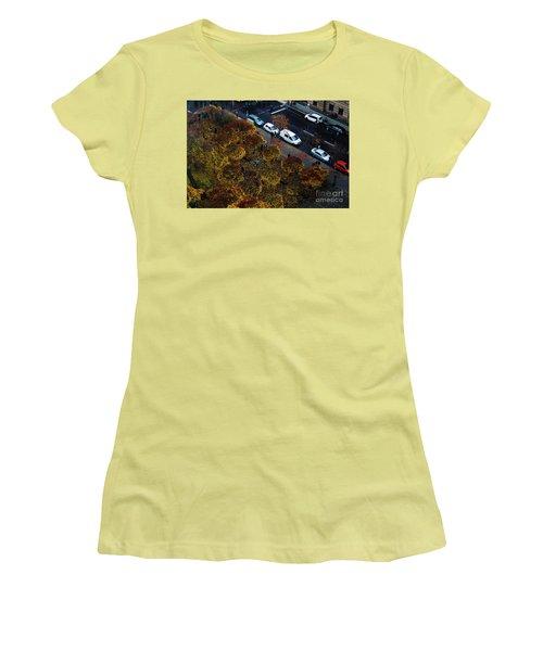 Bird's Eye Of A Berlin Street Women's T-Shirt (Junior Cut) by Ana Mireles