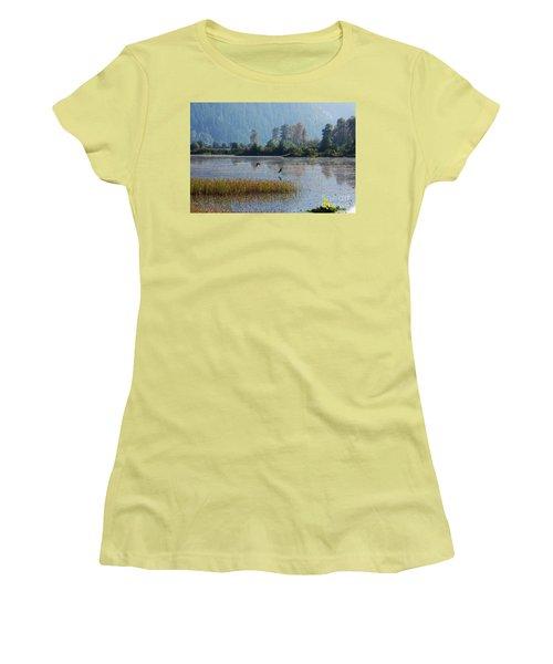 Birds Paradise Women's T-Shirt (Junior Cut) by Victor K