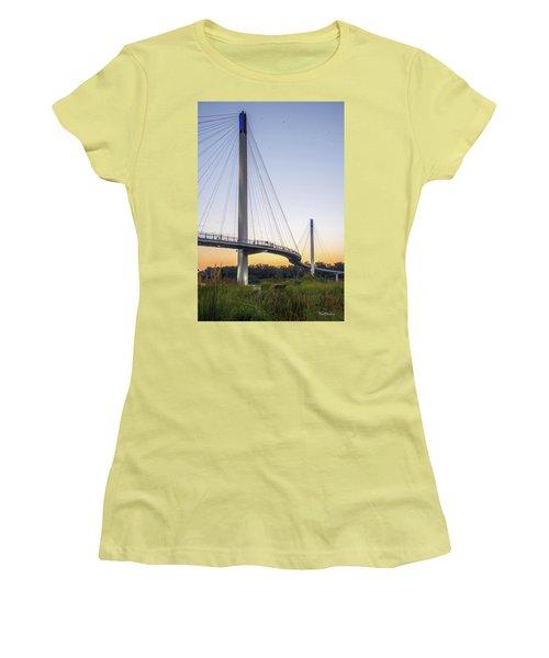 Birds Soaring Over Bob Kerry Bridge Women's T-Shirt (Athletic Fit)