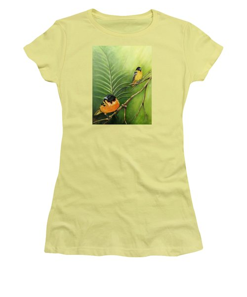 On The Lookout, Birds  Women's T-Shirt (Athletic Fit)