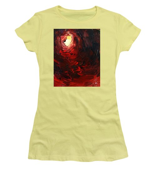 Women's T-Shirt (Junior Cut) featuring the painting Birth by Sheila Mcdonald