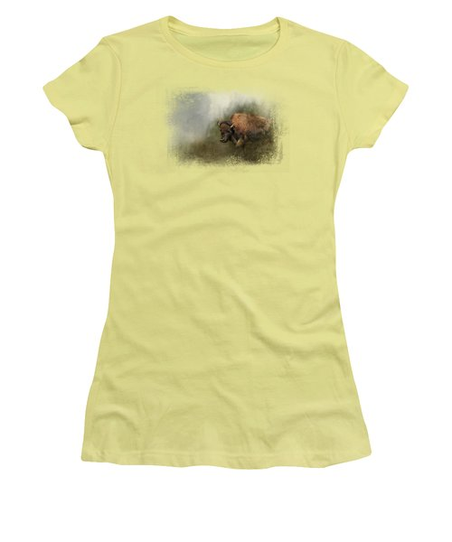 Bison After The Mud Bath Women's T-Shirt (Athletic Fit)