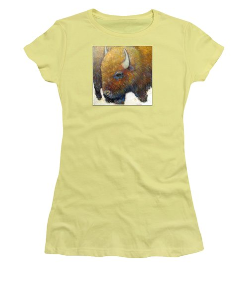 Bison For T-shirts And Accessories Women's T-Shirt (Athletic Fit)