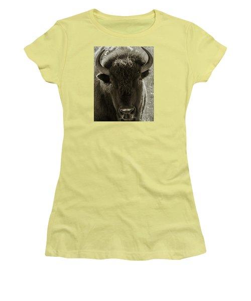Bison Surprise Women's T-Shirt (Athletic Fit)