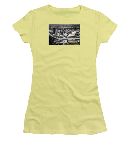 Black And Gold Pittsburgh  Women's T-Shirt (Junior Cut) by Emmanuel Panagiotakis