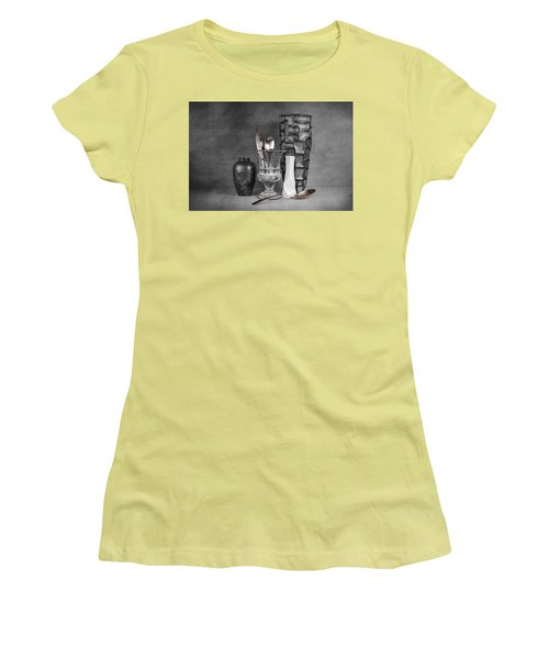 Women's T-Shirt (Junior Cut) featuring the photograph Black And White Composition by Tom Mc Nemar