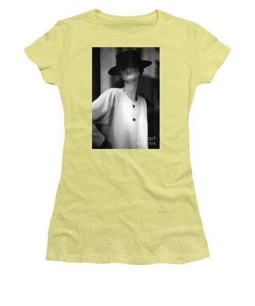 Black And White Women's T-Shirt (Junior Cut) by Steven Macanka