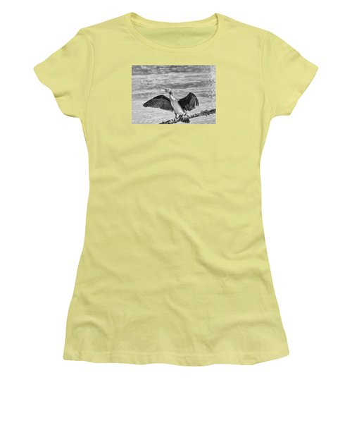 Black And White Welcome In Women's T-Shirt (Junior Cut) by Leif Sohlman