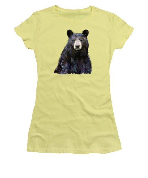Black Bear Women's T-Shirt (Junior Cut) by Amy Hamilton