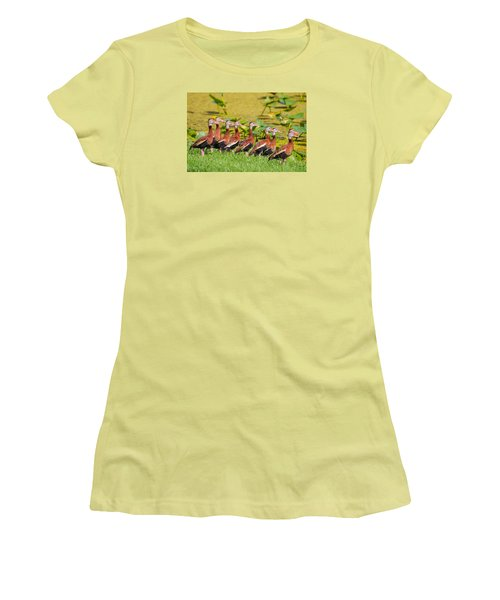 Black Bellied Whistling Ducks Women's T-Shirt (Athletic Fit)