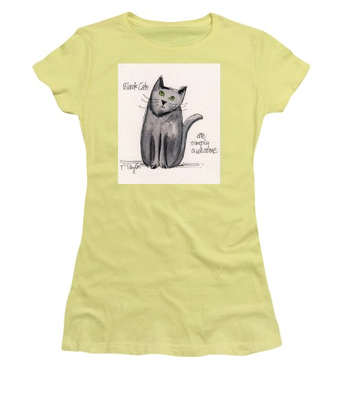 Black Cats Are Simply Awesome Women's T-Shirt (Athletic Fit)