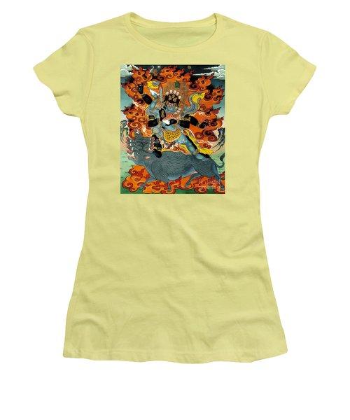 Black Hayagriva Women's T-Shirt (Junior Cut) by Sergey Noskov