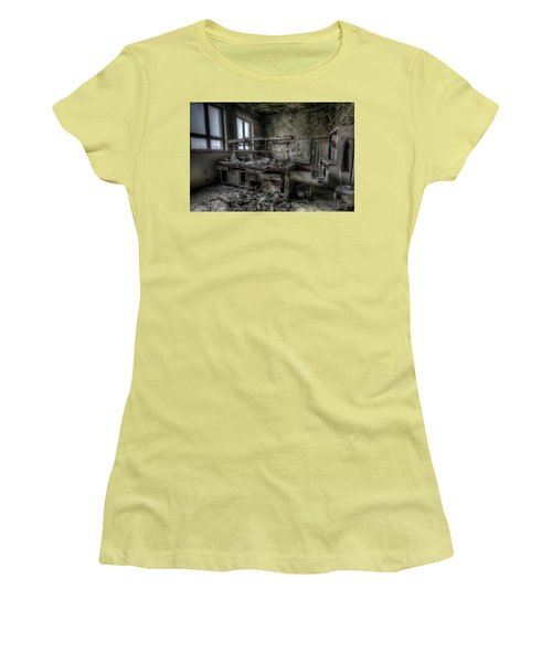 Women's T-Shirt (Junior Cut) featuring the digital art Black Lab by Nathan Wright