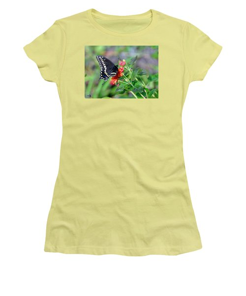 Black Swallowtail Women's T-Shirt (Junior Cut) by Kay Lovingood