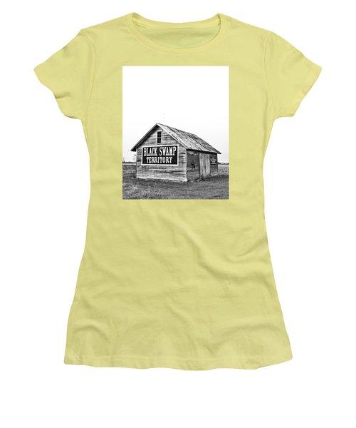 Black Swamp Territory Women's T-Shirt (Junior Cut)