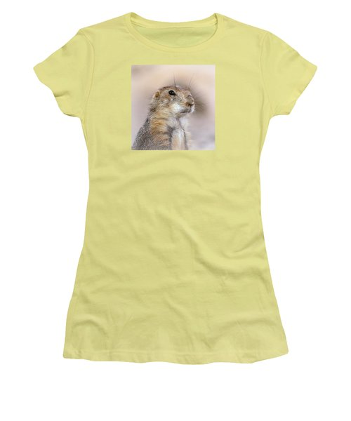 Black Tail Prairie Dog Women's T-Shirt (Athletic Fit)