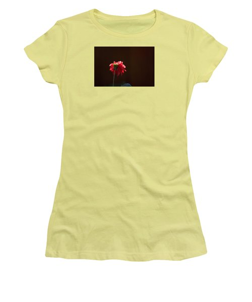 Black With Rose Women's T-Shirt (Athletic Fit)
