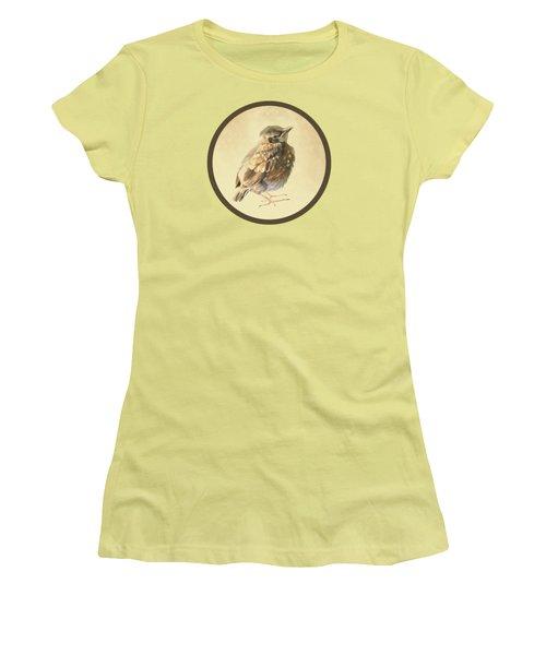 Blackbird Fledgeling Women's T-Shirt (Junior Cut) by Bamalam  Photography