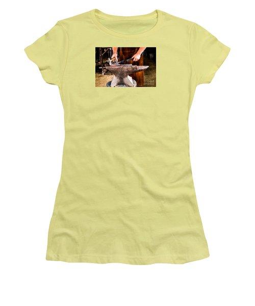 Blacksmith Women's T-Shirt (Junior Cut) by M G Whittingham