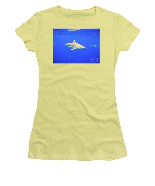 Blacktip Reef Shark Women's T-Shirt (Athletic Fit)