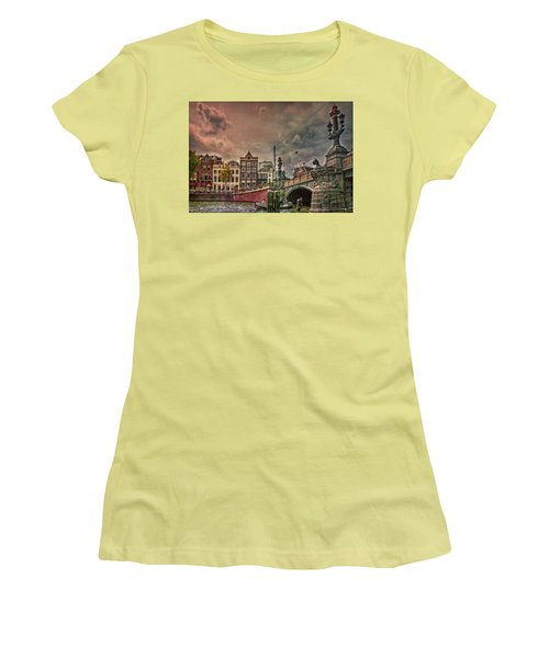 Women's T-Shirt (Athletic Fit) featuring the photograph Blauwbrug -blue Bridge- by Hanny Heim