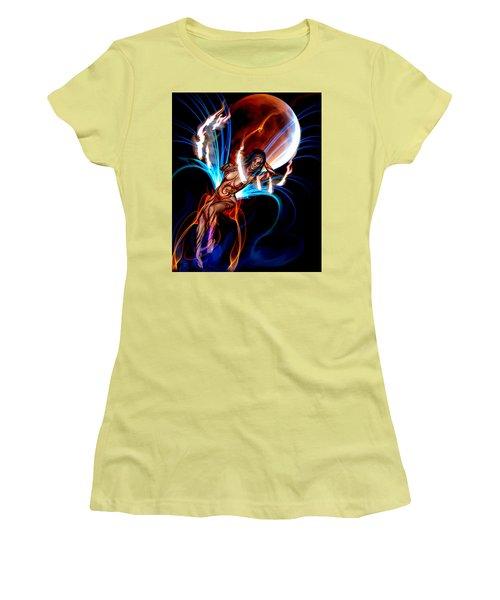 Blazing Eclipse Women's T-Shirt (Junior Cut) by Glenn Feron