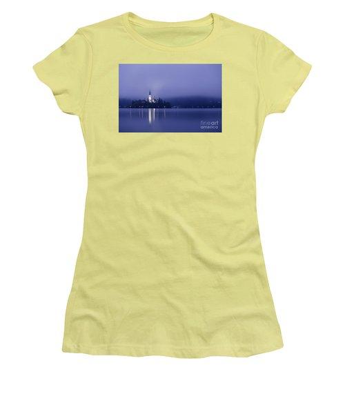 Bled Slovenia Women's T-Shirt (Junior Cut) by Mariusz Czajkowski