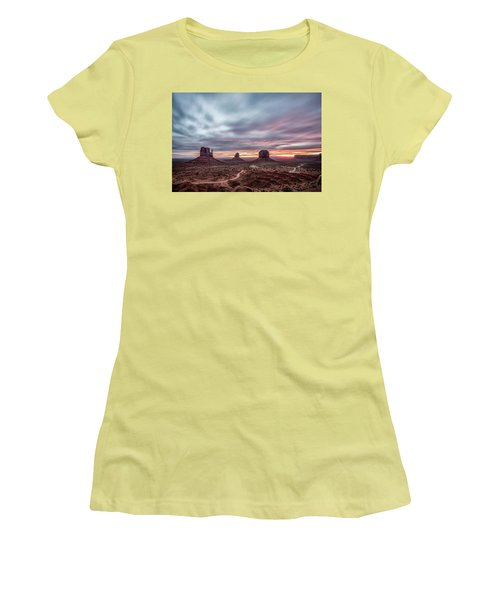 Blended Colors Over The Valley Women's T-Shirt (Athletic Fit)