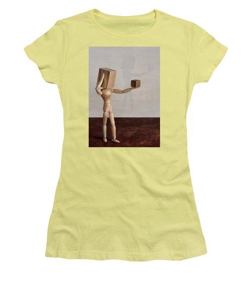 Blockhead Women's T-Shirt (Athletic Fit)