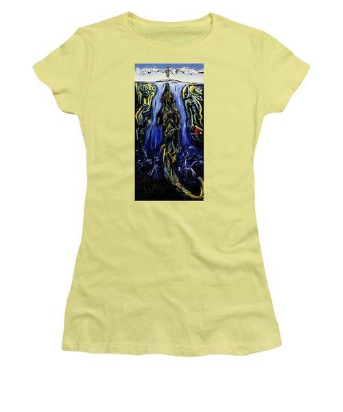 Blood Gulch Women's T-Shirt (Junior Cut) by Ryan Demaree