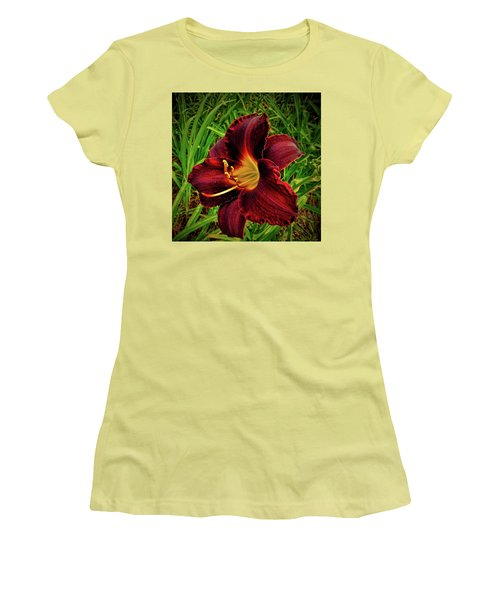 Blood Lily  Women's T-Shirt (Athletic Fit)