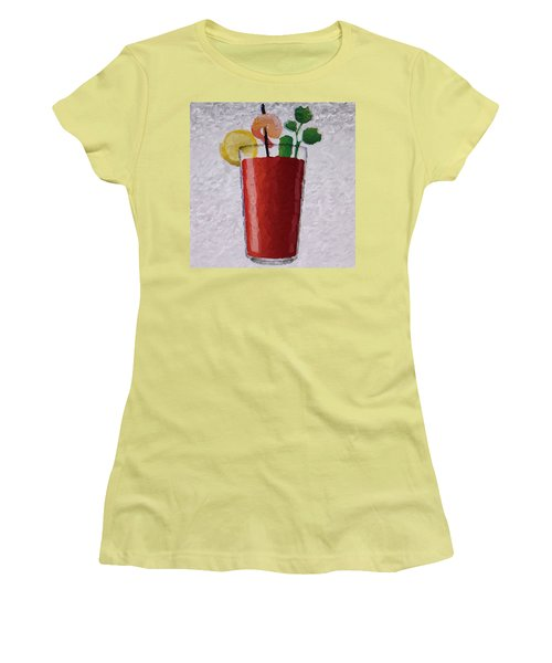 Bloody Mary Emoji Women's T-Shirt (Junior Cut) by  Judy Bernier