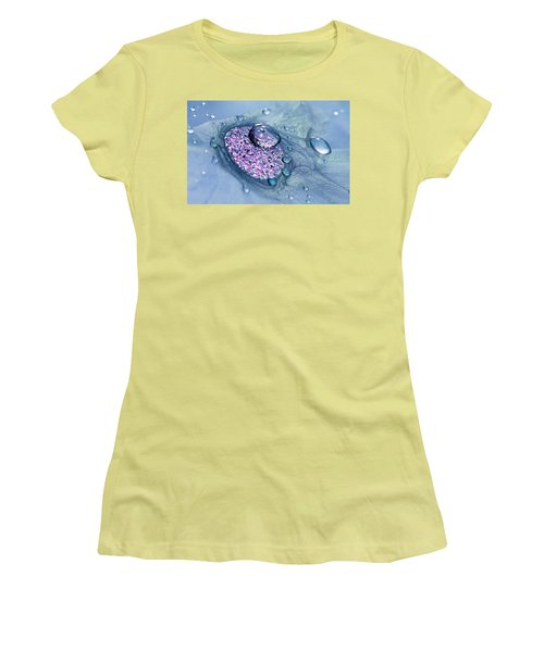Blue And Purple Abstract Women's T-Shirt (Athletic Fit)