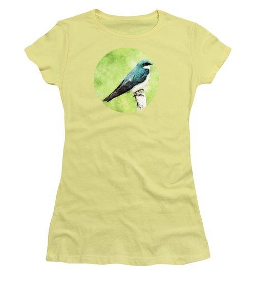 Blue Bird Women's T-Shirt (Junior Cut) by Phil Perkins