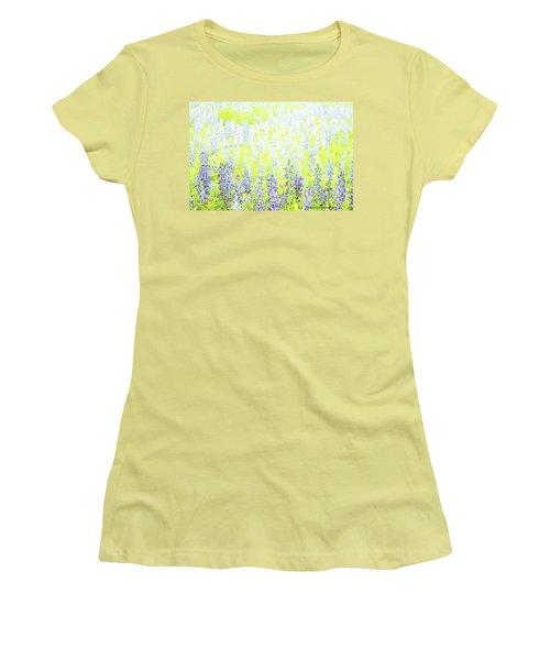 Blue Bonnet Impressions II Women's T-Shirt (Junior Cut) by Carolina Liechtenstein