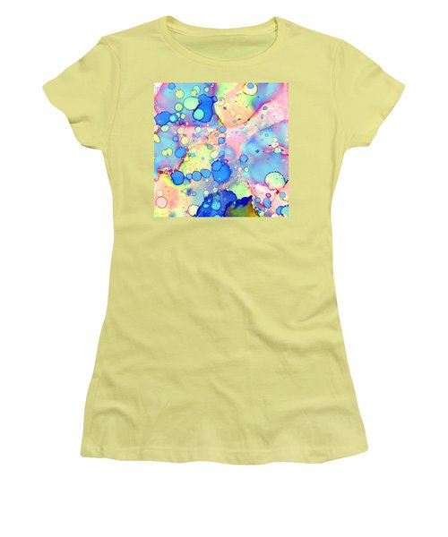 Blue Bubble Gum Pop Women's T-Shirt (Junior Cut) by Patricia Lintner