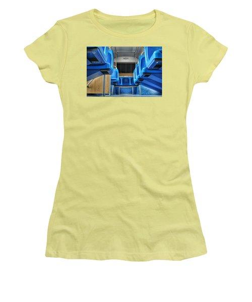 Blue Bus Seats Women's T-Shirt (Athletic Fit)