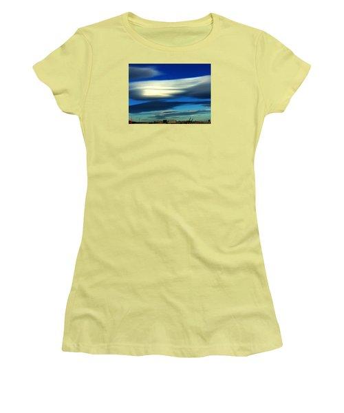 Blue Day Spain  Women's T-Shirt (Junior Cut) by Colette V Hera Guggenheim