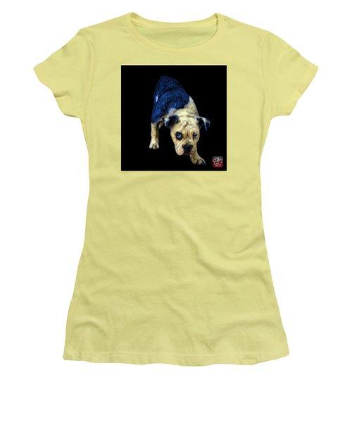 Blue English Bulldog Dog Art - 1368 - Bb Women's T-Shirt (Athletic Fit)