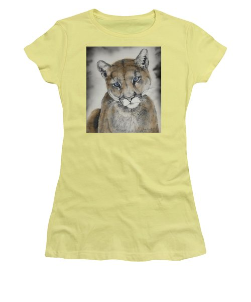 Blue Eyes Women's T-Shirt (Junior Cut) by Lori Brackett