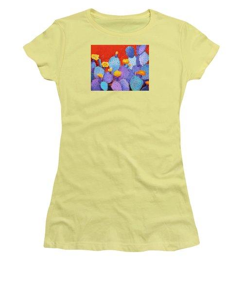 Blue Flame Companion 1 Women's T-Shirt (Junior Cut) by M Diane Bonaparte