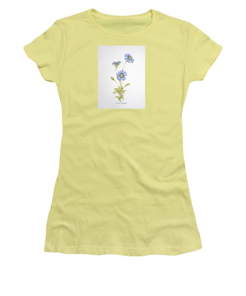 Blue Flower Women's T-Shirt (Athletic Fit)