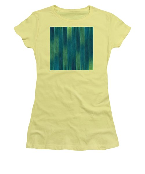 Blue Green Abstract 1 Women's T-Shirt (Athletic Fit)