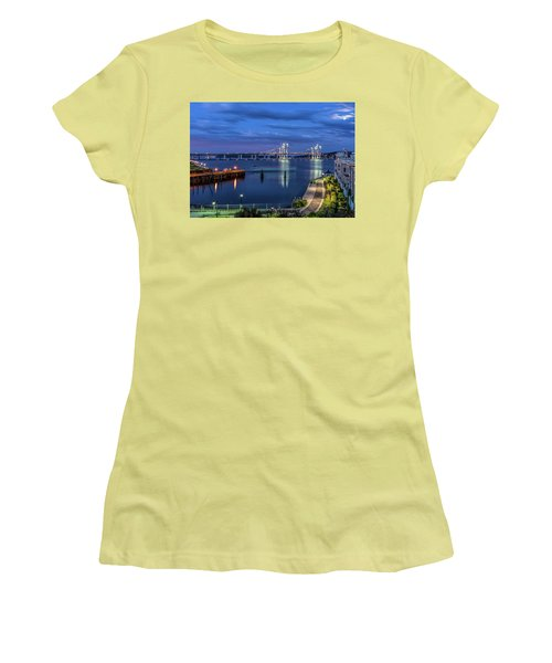 Blue Hour Over The Hudson Women's T-Shirt (Athletic Fit)