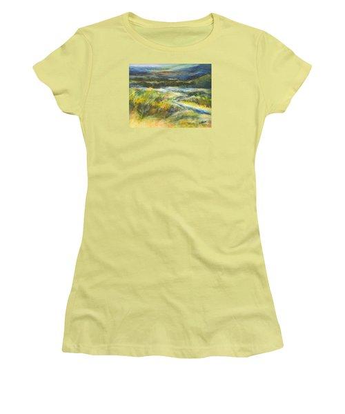 Blue Meadows Women's T-Shirt (Junior Cut) by Glory Wood
