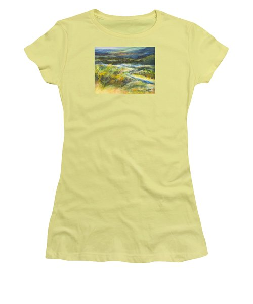 Blue Meadows Women's T-Shirt (Athletic Fit)