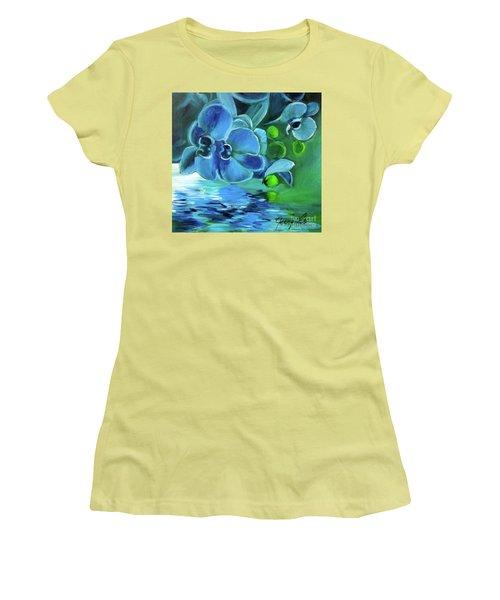 Blue Orchids Women's T-Shirt (Athletic Fit)