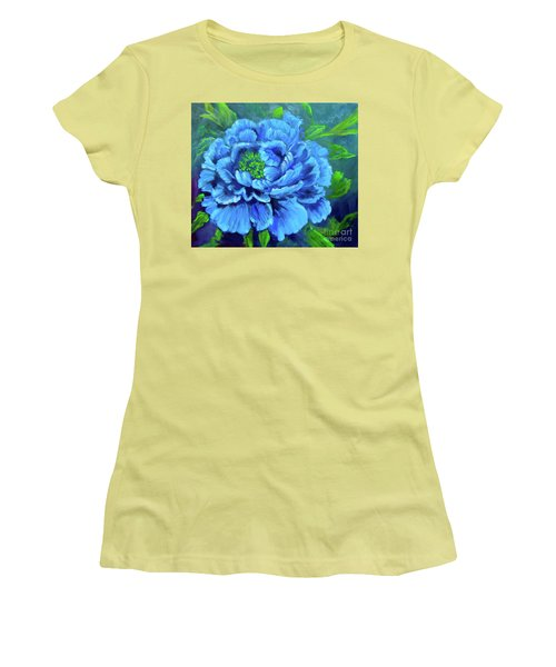 Blue Peony Jenny Lee Discount Women's T-Shirt (Athletic Fit)